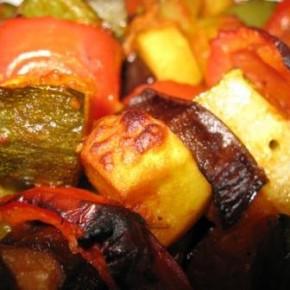 Dārzeņu kebabs 1