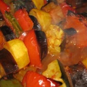 Dārzeņu kebabs